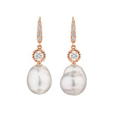 Baroque Pearl Journey Drop Earrings