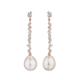 Stardust Bar Pearl Drop Earrings