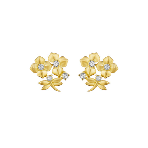 Enchanted Garden Diamond Stud Earrings