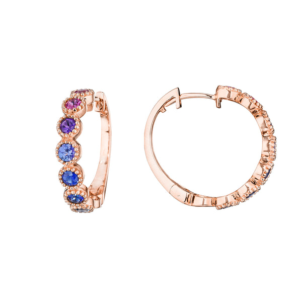 Petite Watercolor Hoop Earrings