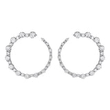 Moderne Deco Wrap Around Hoop Earrings