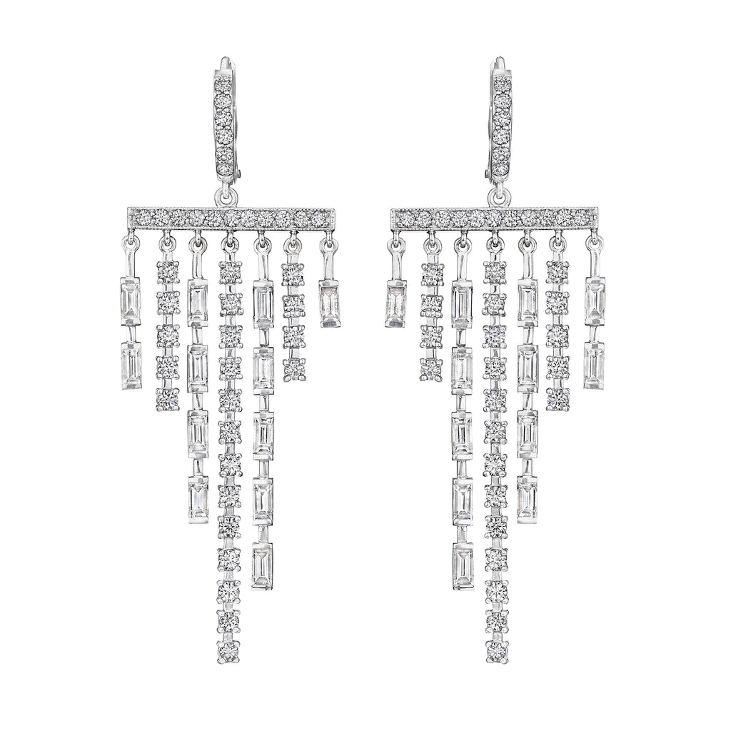 Cascading Waterfall Diamond Earrings