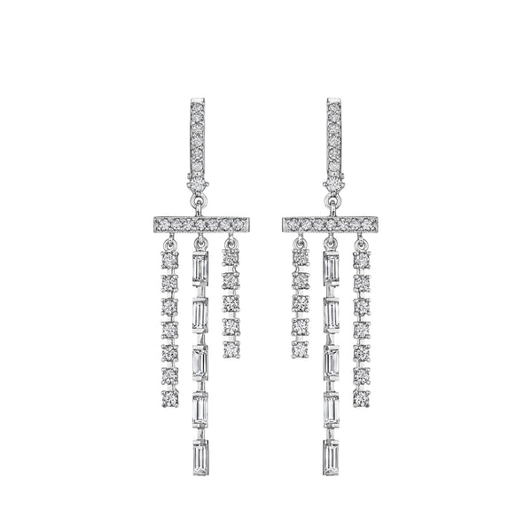 Petite Cascading Waterfall Diamond Earrings