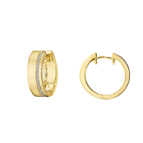 Moderne Deco Wide Huggie Earrings