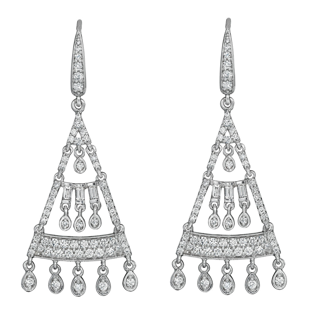 Petite Art Deco Chandelier Earrings