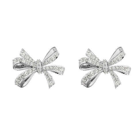 Double Loop Bow Stud Earrings