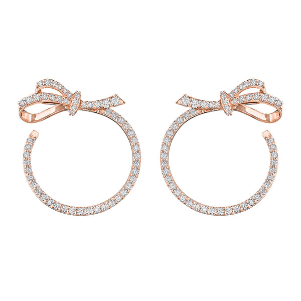 Knot Bow Wrap Hoop Earrings