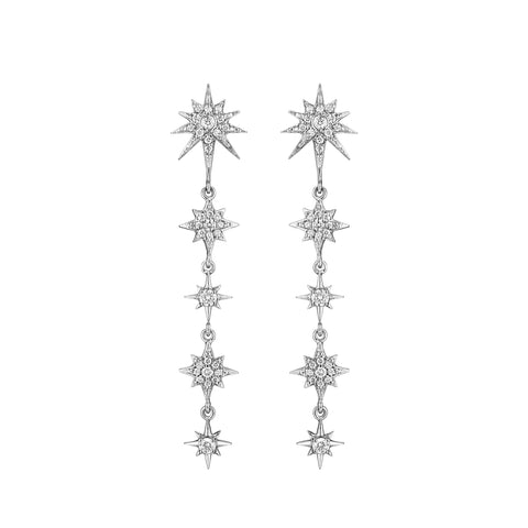 Petite Descending Starburst Earrings