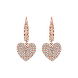 Baguette Heart Drop Earrings