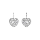 Rose-Cut Heart Drop Earrings