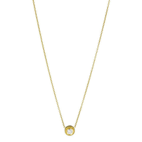 Round Stud Necklace