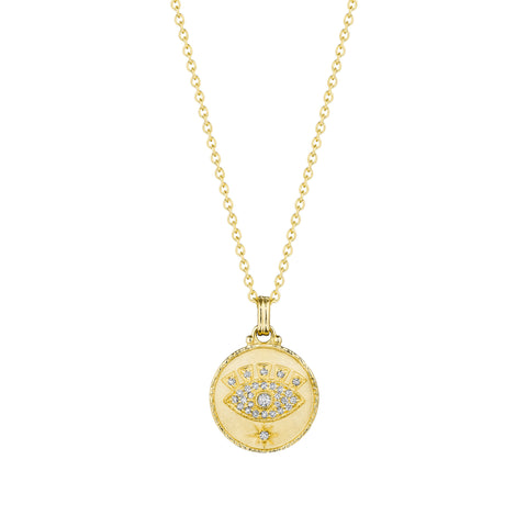 All Knowing Eye Medallion Necklace