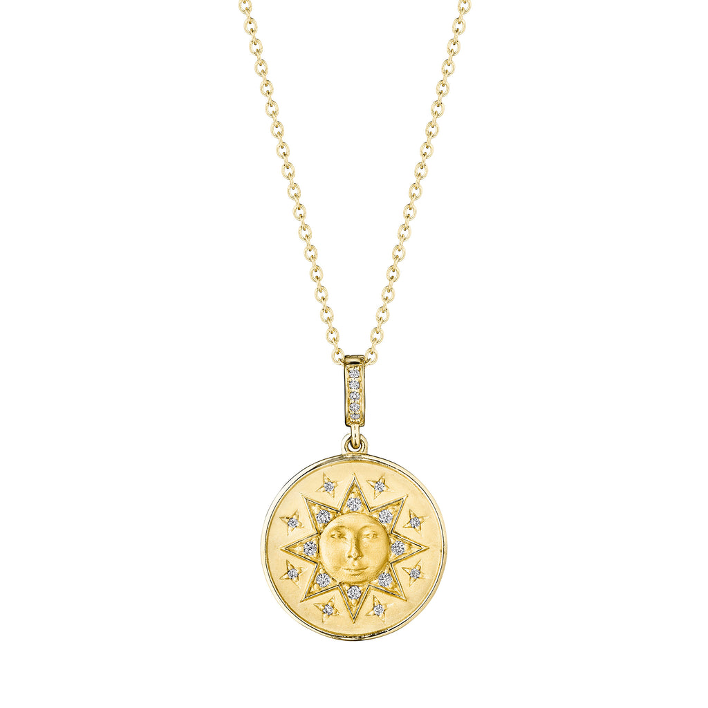 Man In The Sun Medallion Necklace