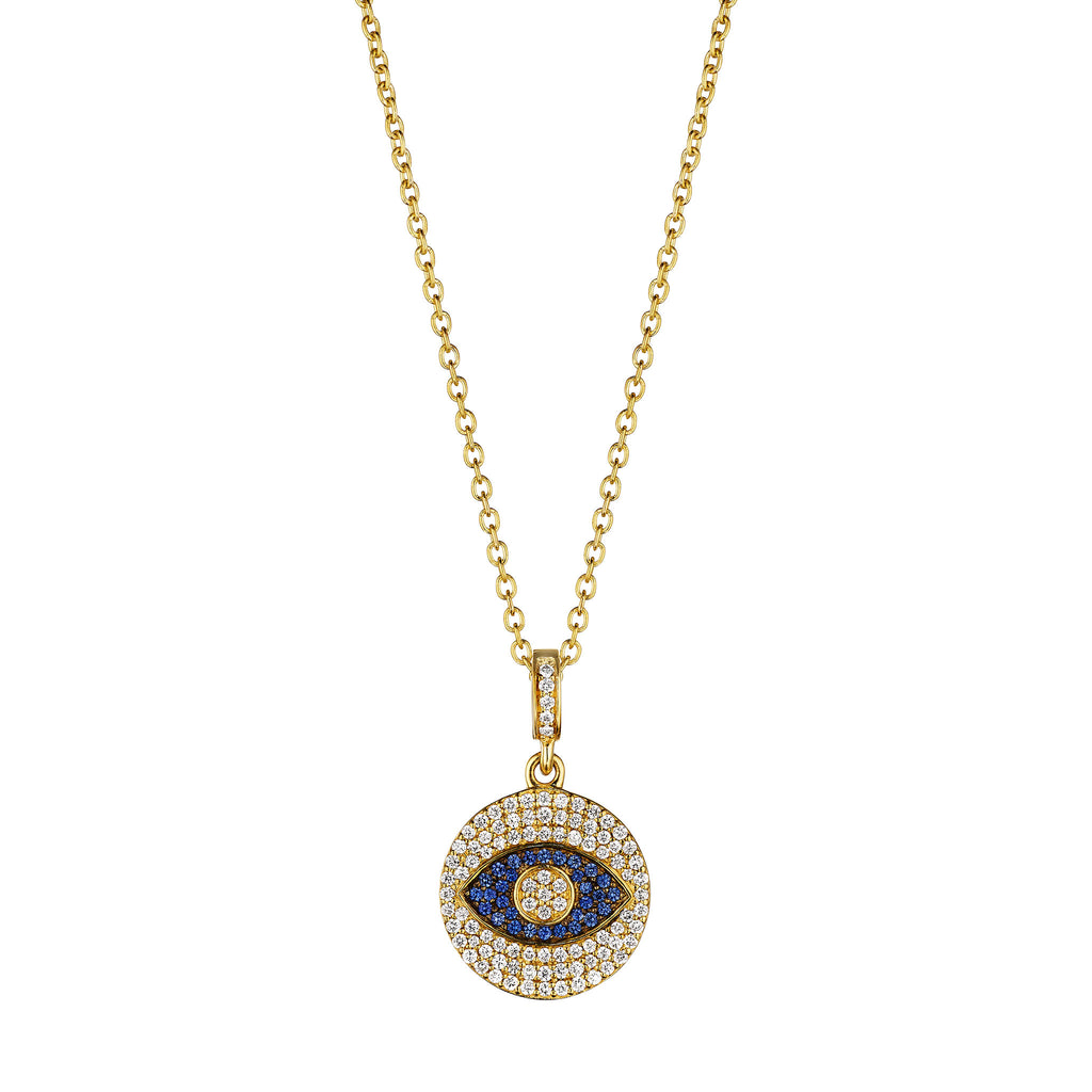 Mini Evil Eye Medallion Necklace