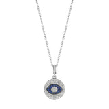 Petite Evil Eye Medallion Necklace