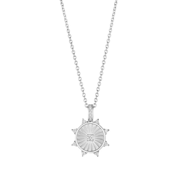 8 Point Wheel Medallion Necklace