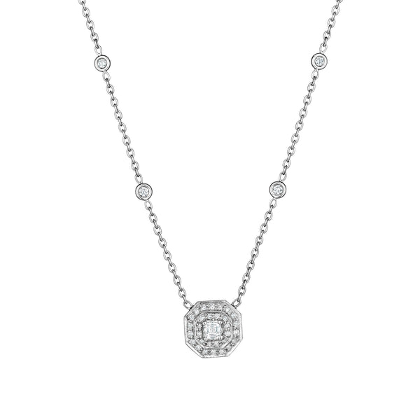 Asscher-Cut Diamond Necklace