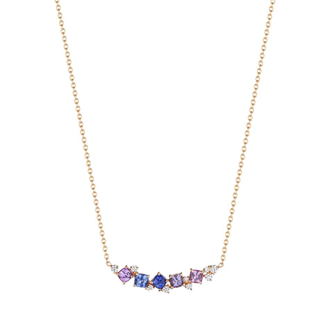 Watercolor Cluster Bar Necklace