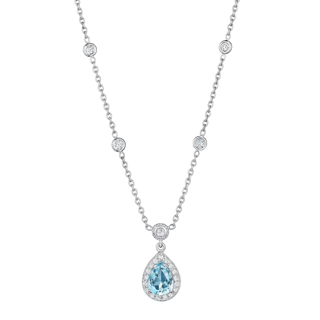 amp aquamarine white new gold marine aqua necklace image pendant teardrop jewellery