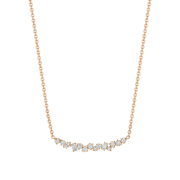 Stardust Cluster Bar Necklace