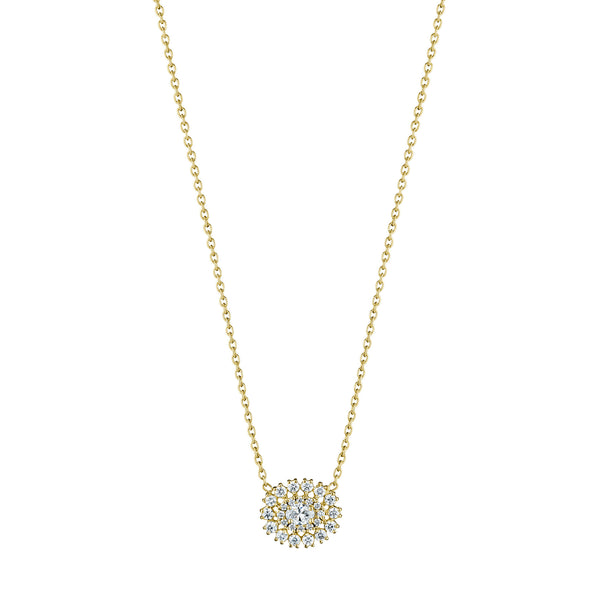 Oval Snowflake Necklace