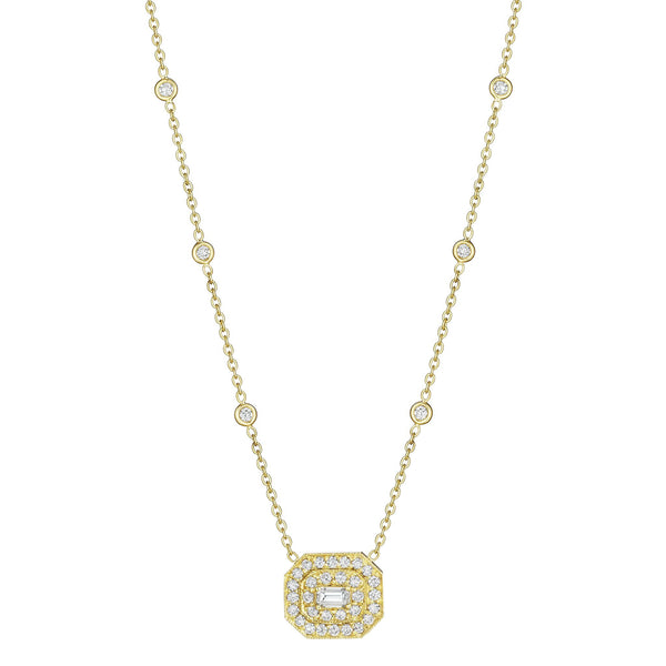 Emerald-Cut Art Deco Necklace