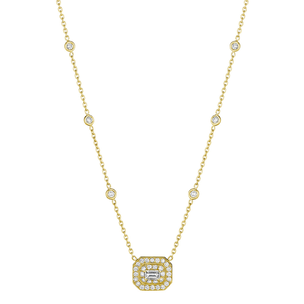 Mid Emerald-Cut Art Deco Necklace