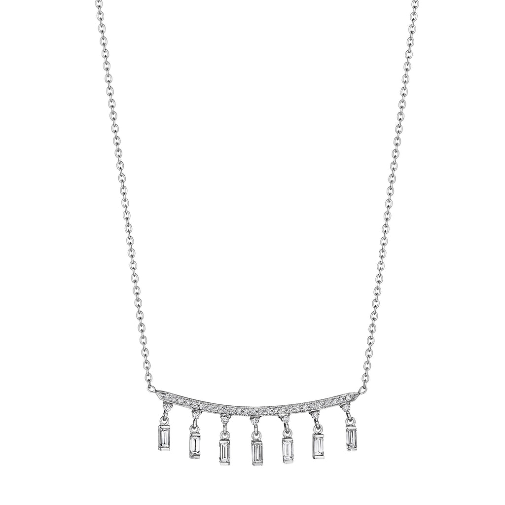 Hanging Baguette Bar Necklace