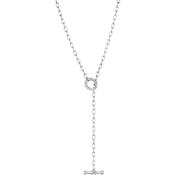 "24"" Flat Link Necklace with Toggle"