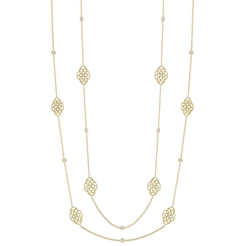 Petal & Scroll Lace Signature Chain