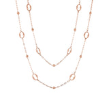 "36"" Open Oval & Rose Link Chain"