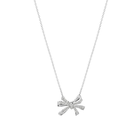 Double Loop Bow Necklace