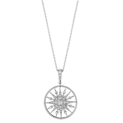 Round Starburst Enhancer Necklace