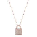 Diamond Padlock Necklace