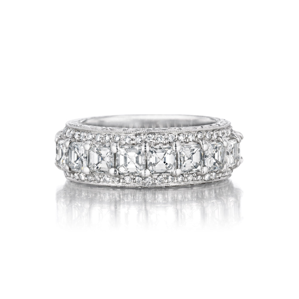 Wide Asscher Cut Diamond Band