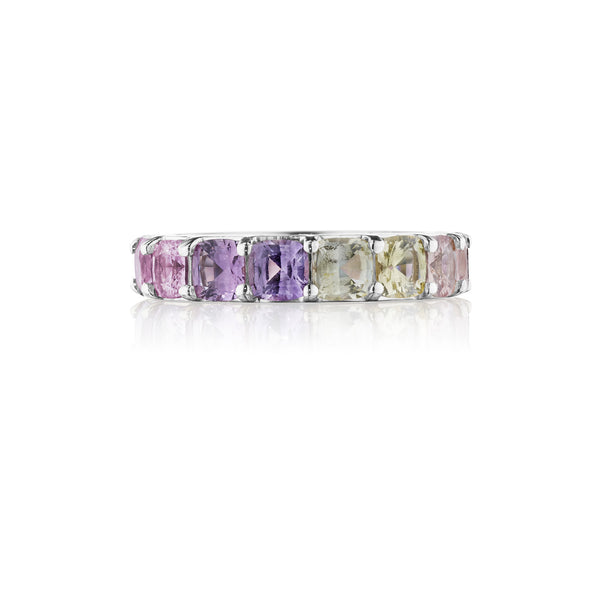 Pink Sapphire Ombre Band