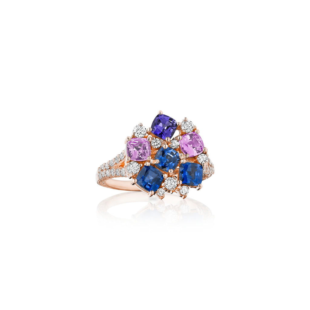 Rainbow Sapphire Cocktail Ring