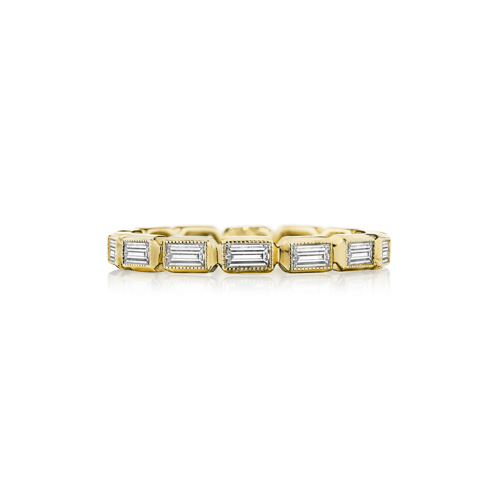 Bezel Set Baguette Eternity Band