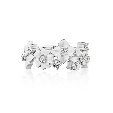 Enchanted Garden Flower Cluster Band