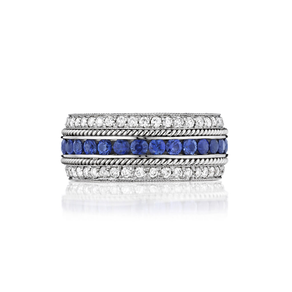 Channel Set Blue Sapphire Ring
