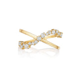 Petite Stardust Criss Cross Ring