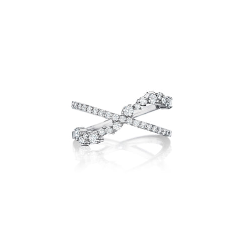 Star Dust Criss Cross Ring