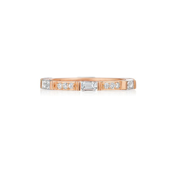 Round & Baguette Stacking Band