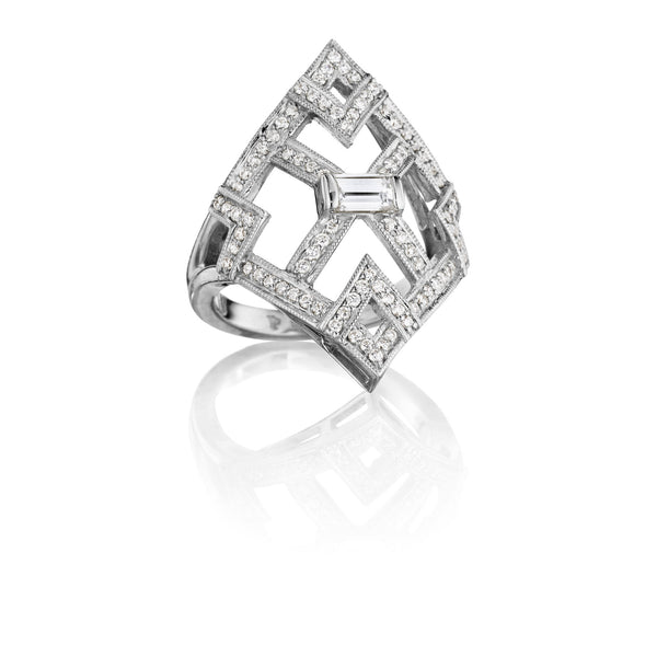 Openwork Art Deco Ring