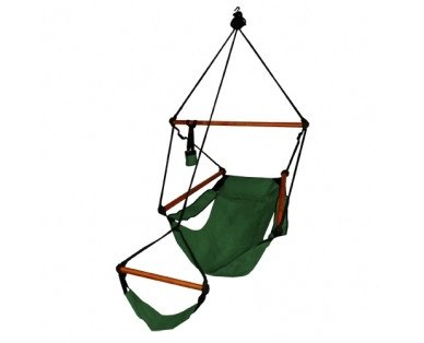 Hammaka Hammocks Original Hanging Air Chair In Hunter Green - Swings N' Hammocks - 1