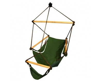 Hammaka Hammocks Cradle Hanging  Air Chair In Hunter Green - Swings N' Hammocks - 1
