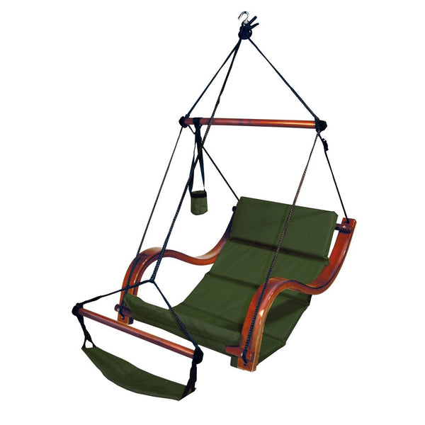 Hammaka Hammocks Nami Hanging Lounge Chair In Hunter Green - Swings N' Hammocks - 1
