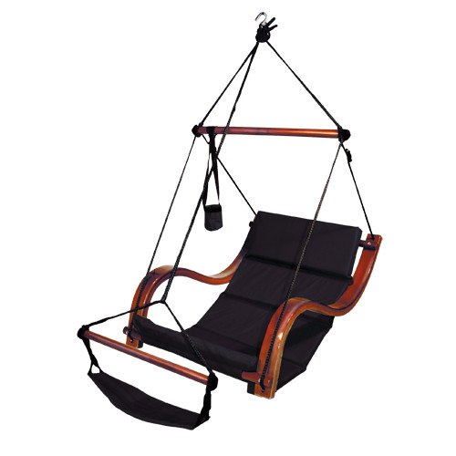 Hammaka Hammocks Nami Hanging Lounge Chair In Jet Black - Swings N' Hammocks - 1