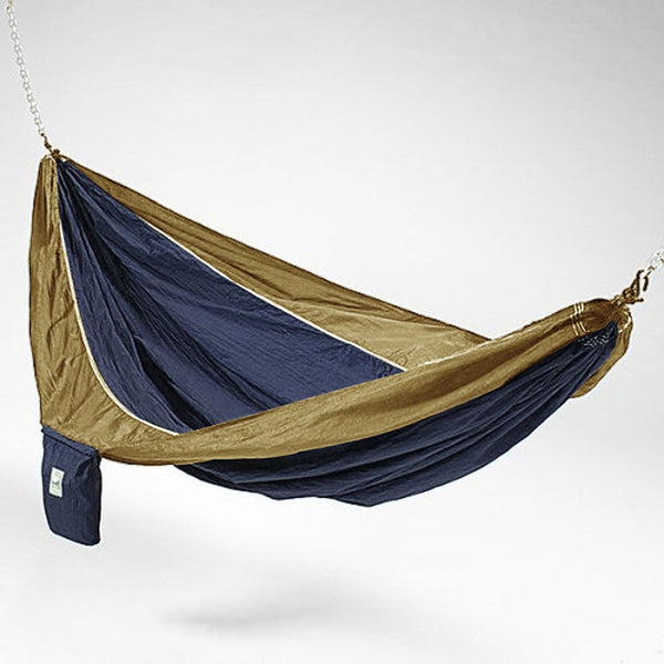 Blue And Brown Hammaka Parachute Silk Hammock - Swings N' Hammocks
