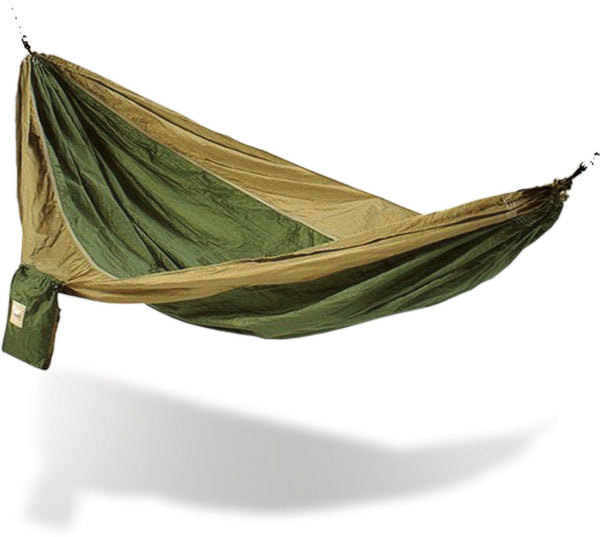 Army Green And Brown Hammaka Parachute Silk Hammock - Swings N' Hammocks